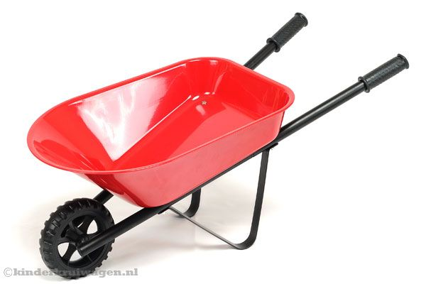 Bumpack Red Metal kinderkruiwagen.