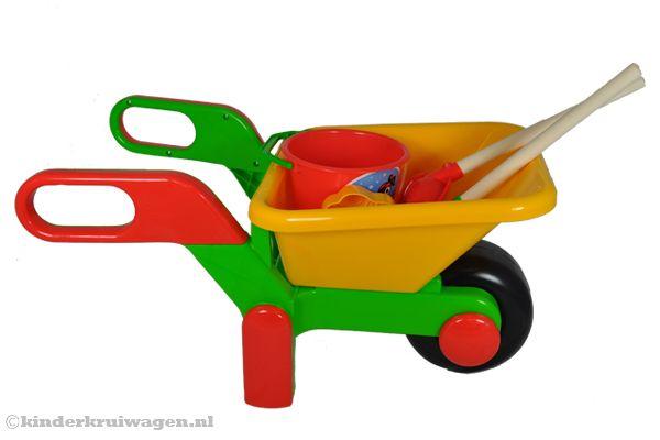 speelgoed kruiwagen met tuingereedschap